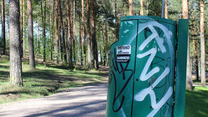 My favorite hobby in Jyväskylä: spotting TNH tags. There are hundreds of them all around the town, which makes finding them feel like an extra quest from an open world video game.
