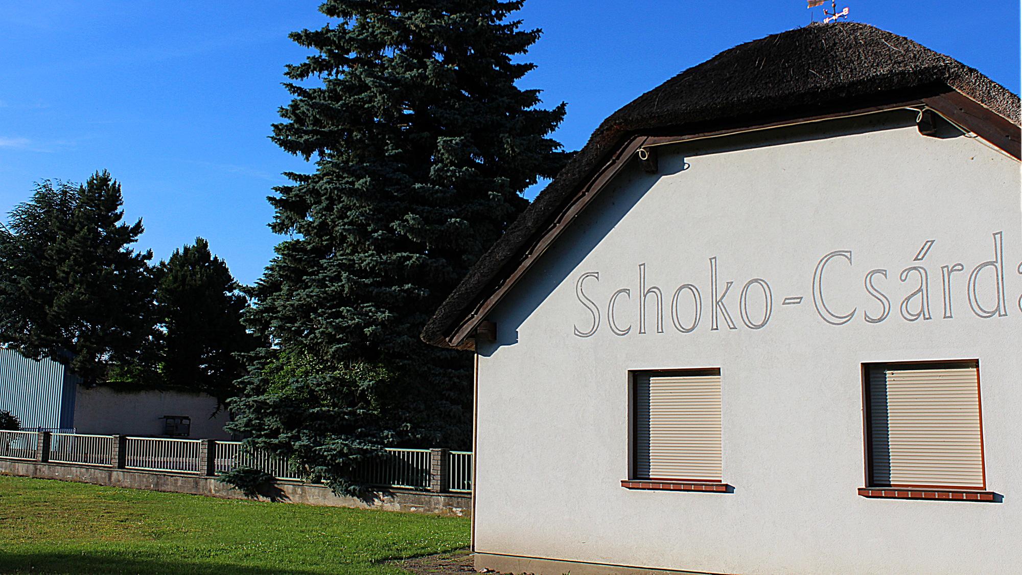 Schoko-Csárd chocolate factory building in Kittsee, Austria.