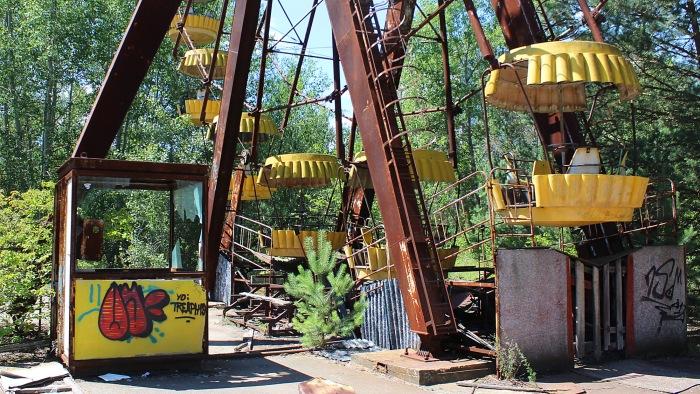 The famous Ferris wheel of Pripyat Amusement Park.