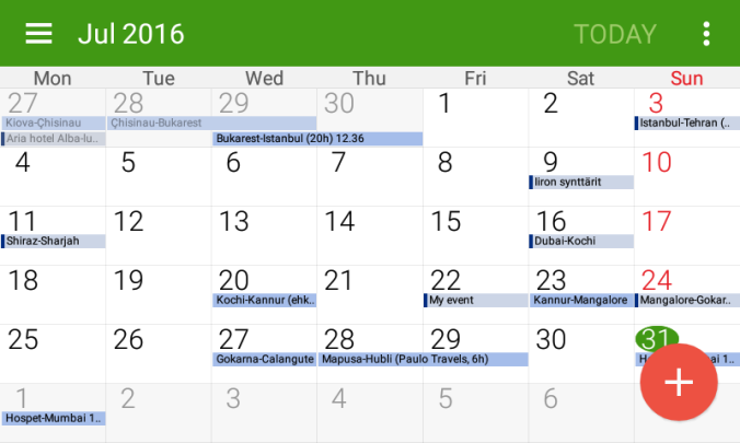 ss calendar